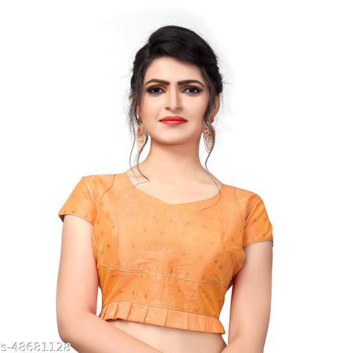 Fab Dadu  Light Orange Malbari Silk Extra Sleeve With Blouse