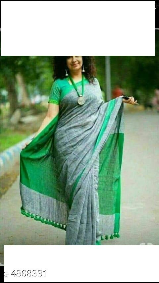Attractive Khadi Cotton Women Saree