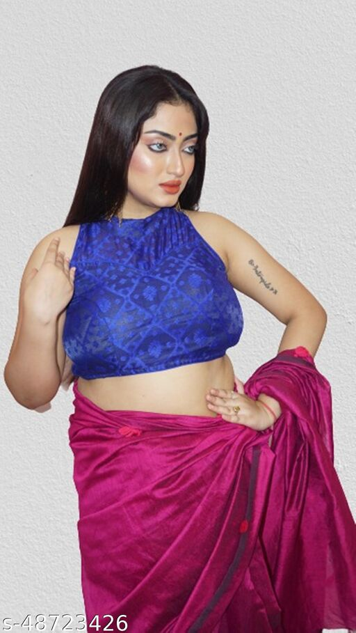 Dhakai jamdani holter nack blouse