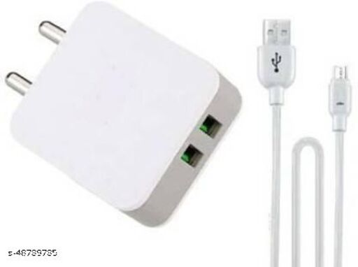 KonaRRk KN-11 Dual USB port 2.4A smart fast charger with 1 meter detachable Micro usb cable