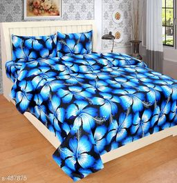 Home Collective Colorful Microfiber Printed Double Bedsheet