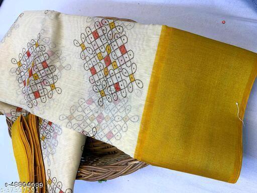 Fancy Cotton Printed Sarees