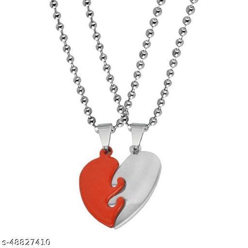 Valentine Gift Best Friend Broken Heart Pendant Pair Has Two Pieces Of One Heart- Best Friend , Titanium Stainless Steel Pendant Set