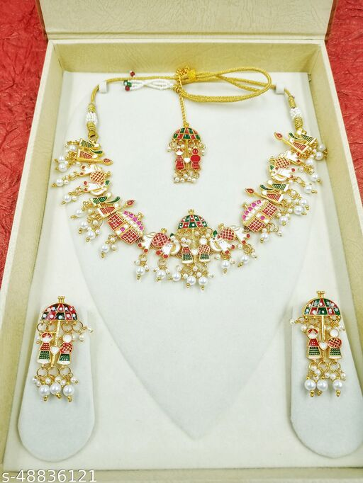 Festival Wear Ladies Tika with Necklace Set For Women Girls