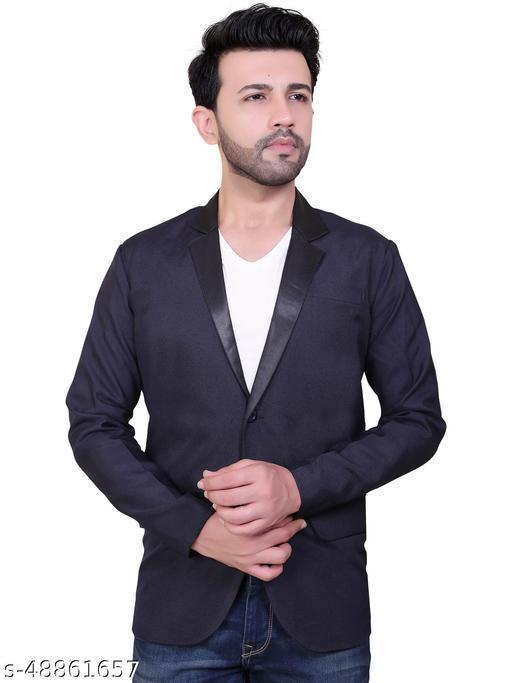 Click One Casual Viscose Satin Blazer For Men's