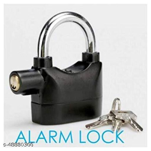 Alarm Security Lock for Home and Office Door with Motion Sensor and 3 Keys (Black)