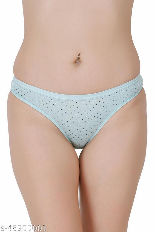 Women Bikini Blue Hosiery Panty