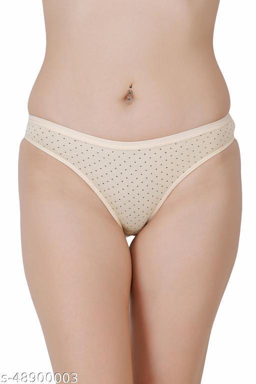 Women Bikini Beige Hosiery Panty