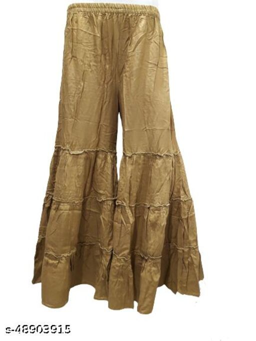 Checkout This New Attractive Beautiful Womens Rayon Slub Sharara Best For Girl'S And Women's
