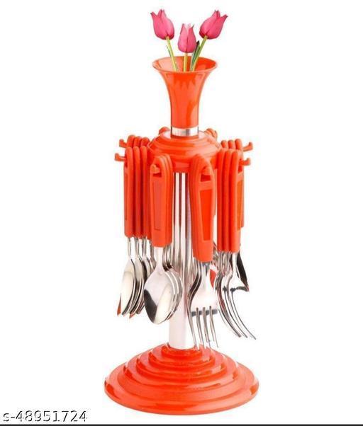 New Stylish Stainless Steel Cutlery Set (24 pcs)