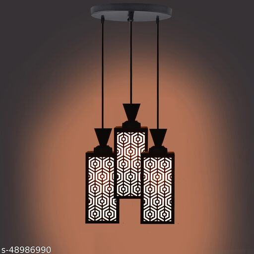 Manu Three Light Creative Wood Pendant Light Lamp & One Round Fitting Pendants Ceiling Lamp suitable for Living Room,Foyer,Bedroom,Hallway