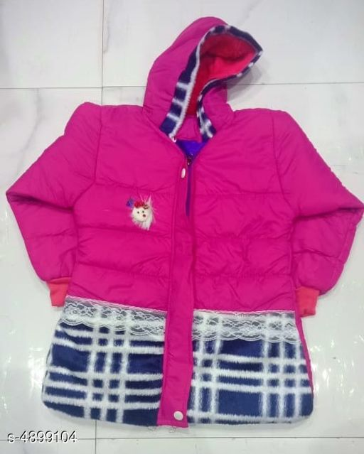 Jackets & Coats Classy Kid's Girl's Jacket  *Fabric* Polyester  *Sleeves * Full Sleeves  *Size* Age Group (1 - 2 Years) - 18 in  *Type* Stitched  *Description* It Has 1 Piece Of Kid's Girl's Jacket  *Work * Printed  *Sizes Available* 1-2 Years *    Catalog Name: Doodle Classy Kid's Girl's Jackets Vol 1 CatalogID_716548 C62-SC1153 Code: 645-4899104-