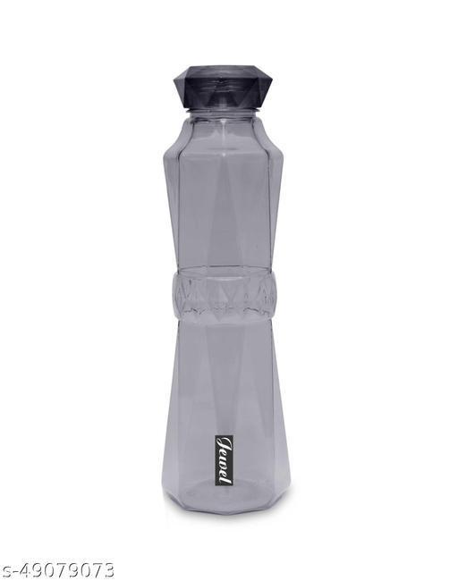 SUDIKSHA JEWEL Unbreakable Lid & All Purpose Plastic Water Bottle, 1 Liter, Black (pack Of 1)