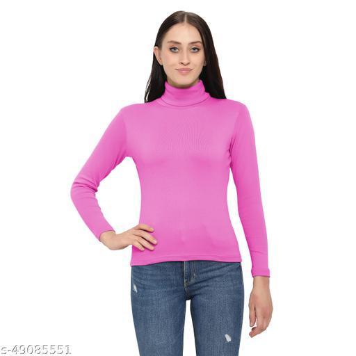 DIAZ Women/Girls Turtle Neck/Highneck T-Shirt