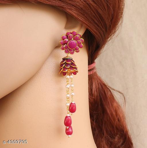 Designer Beaded Pearl Pacchi Earrings