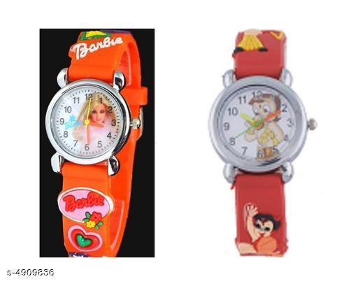 Trendy Unisex Kids Watches Combo