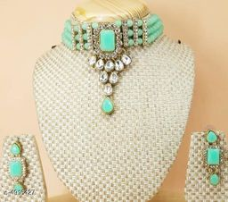 Women's Brass Plated Jewellery Set