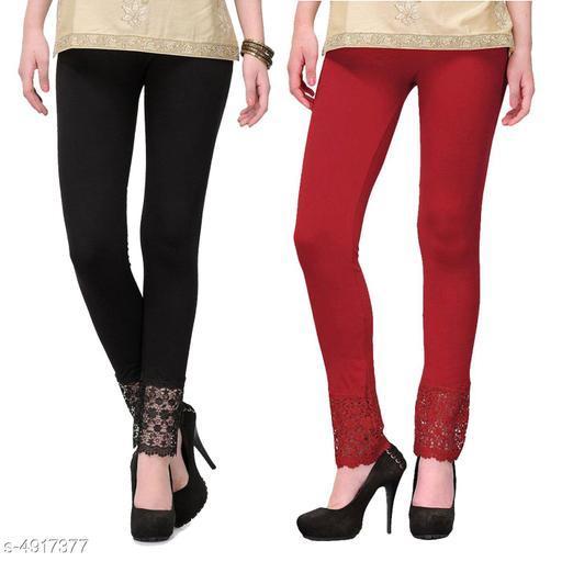 Attractive Women's Leggings  ( Pack Of 2 )