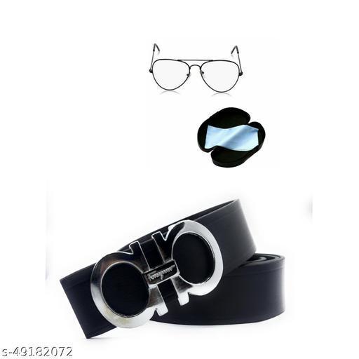 pack of 2 white sunglass & belt for men