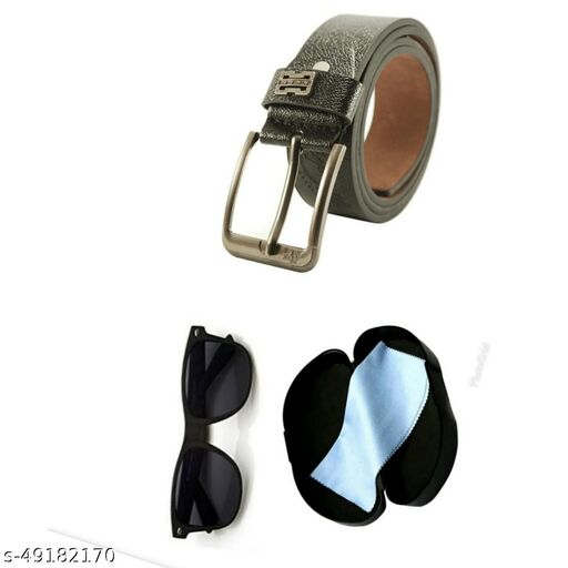 black sunglass with belt for men pack of 2