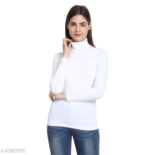 Women's Solid White Cotton Top