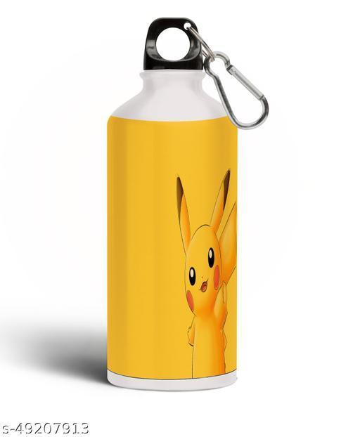PARTY GLITERS Pikachu Theme Printed Water Bottle,Birthday Gift Water Bottle, Aluminun Pika-58