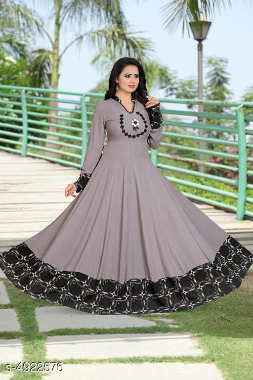 Stylish Heavy Rayon Women's Gown