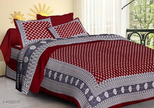 Trendy Cotton Printed Bedsheet