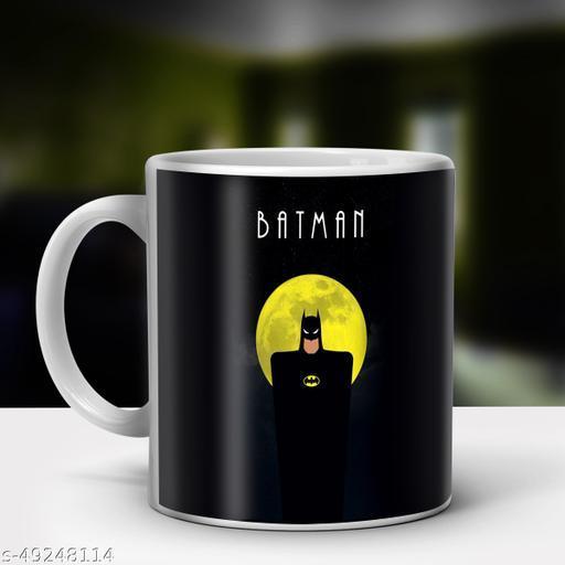 Indian Tag Batman Printed Ceramic Coffee Mug For Kids|Birthday Gifts For Kids KID-ITMG96