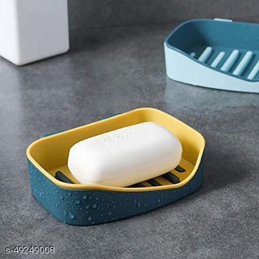 DS Enterprise Multipurpose Sticker Wall Mounted Plastic Soap Dish Holder for Bathroom, 1-pcs