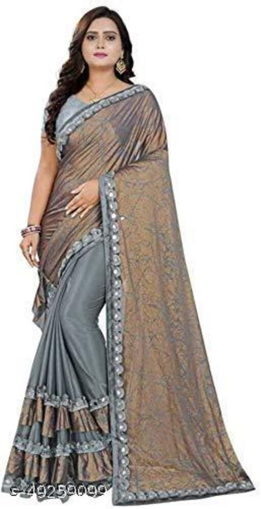 FANCY LYCRA SAREE AND BEST QULITY WITH BLOUSE