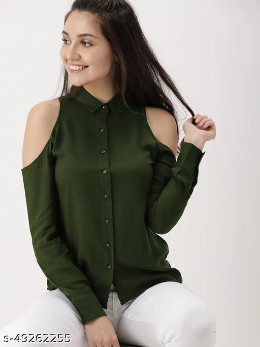 Stylish Designer Women Bare Shoulder Shirts