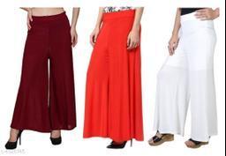 New Trendy Lycra Women's Palazzos Combo