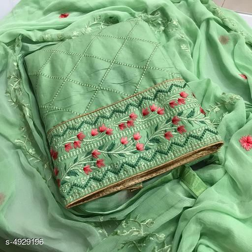 Trendy Glace Cotton Suits And Dress Material