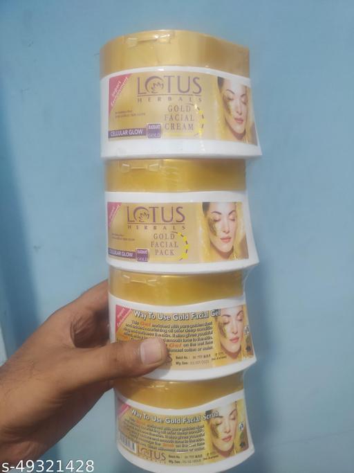 lotus 500 gm pack of 4 box facial kit new 2021