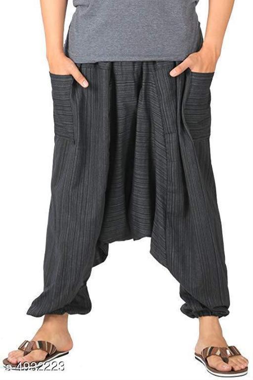 Lounge Pants  Men's Cotton Harem Pant  *Fabric* Cotton  *Waist Size* M - 30 in, L - 32 in, XL - 34 in  *Length* Up to 38 in  *Type* Stitched  *Description* It Has 1 Piece Of Men's Harem Pant  *Work * Printed  *Sizes Available* S, M, L, XL *   Catalog Rating: ★3.7 (15)  Catalog Name: Trendy Men's Cotton Harem Pants Vol 2 CatalogID_721917 C68-SC1219 Code: 213-4932223-