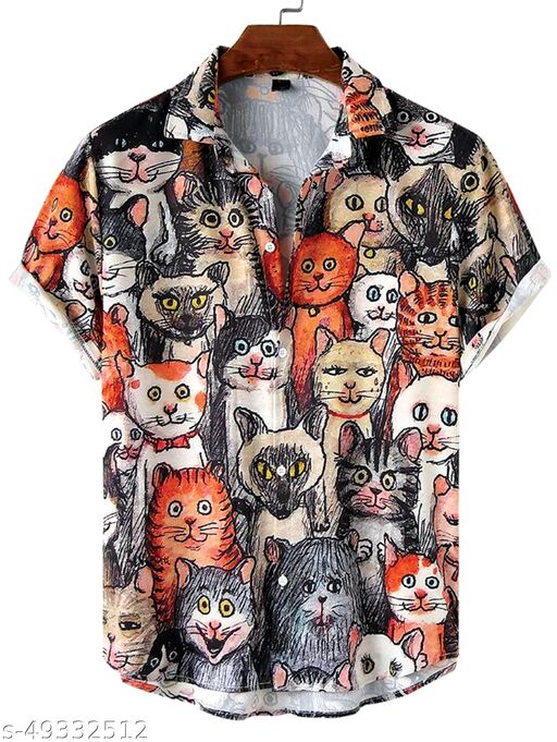 Trendy Fashionable Laycra Men Shirts