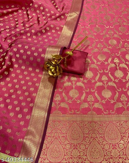 (10Peach) Weddings Special Banarsi Silk Suit And Dress Material