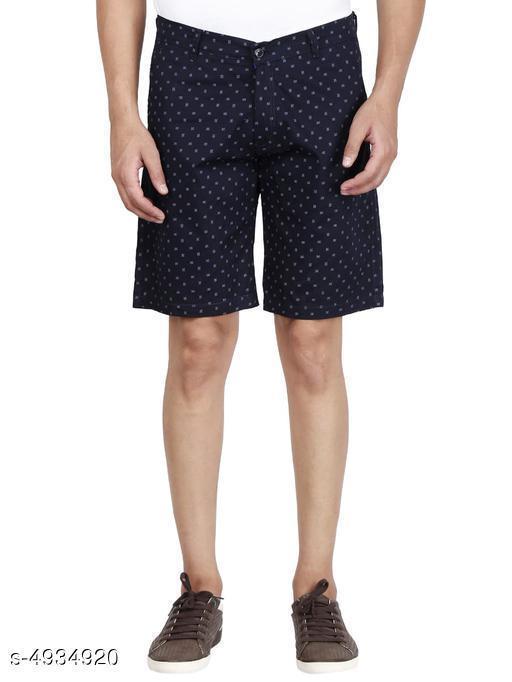 Trendy Men's Cotton Printed Shorts