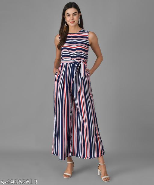 Vivient Women Multicolour Striped Casual Jumpsuits