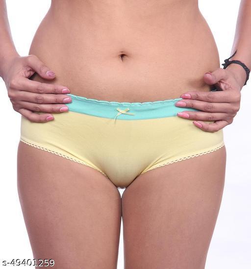 Women Bikini Yellow Cotton Panty