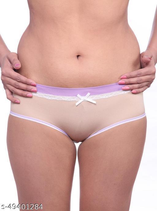 Women Brazilian/Cheeky Nude Cotton Panty