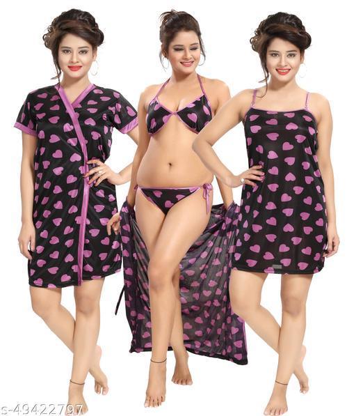 KHOOBS Women's Sexy  Nightdress Babydolls