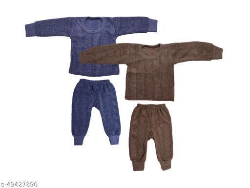 Neeba Warm Cotton Thermal Set for Kids (Unisex) (Boys/Girls) Pack of 2