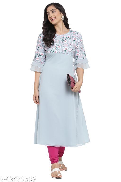 THE DRESSERY Women's Crepe A-Line Printed kurti