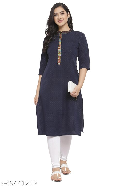 THE DRESSERY Women's Crepe Straight Printed kurti