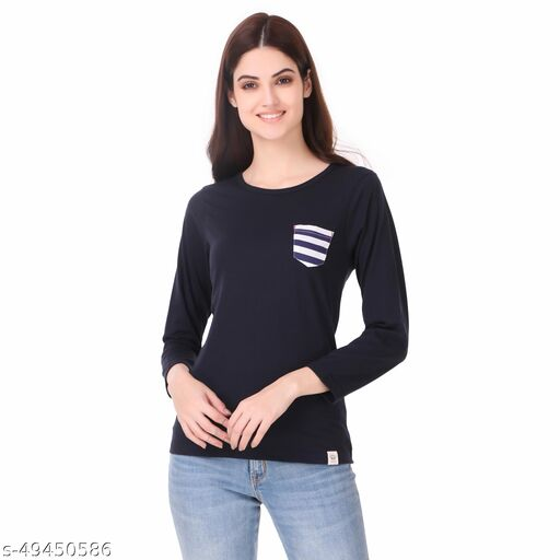 Made In The Shade 100% Cotton Printed And Solid Women 3/4th Sleeve Tshirt
