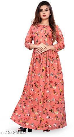 Trendy Stylish Crepe Women's Gown