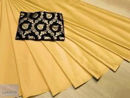 Stylish Women's Satin Silk Saree