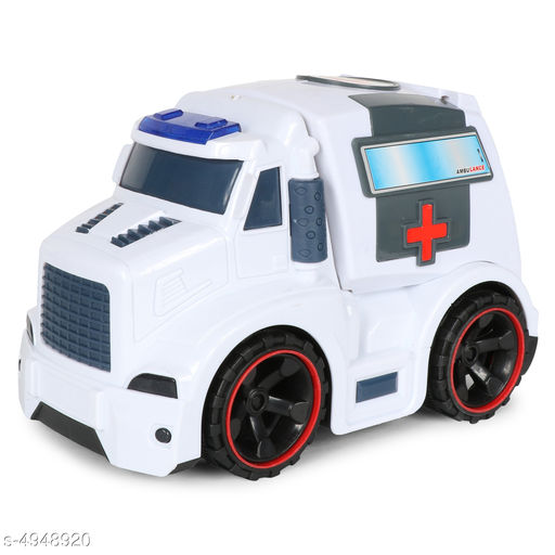 Others Elite Stunning Kid's Toys  *Product Type* Planet of Toys Friction Powered Ambulance Vehicles Toys for Kids Play with Light and Sound  *Material* Plastic  *Size* (L X W X H) - 19 cm X 12 cm X 11 cm  *Age Group* 3+ Years  *Description* It Has 1 Piece Of Friction Powered Ambulance Vehicles Toys for Kids Play with Light and Sound  *Color* White  *Sizes Available* Free Size *    Catalog Name: Elite Stunning Kid's Toys CatalogID_724724 C86-SC1296 Code: 914-4948920-